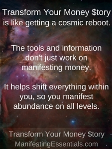 Transform Your Money $tory cosmic reboot