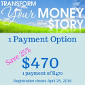 Transform Your Money Story [1 payment]
