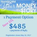 Transform Your Money Story w/ oil purchase